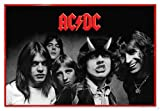 AC/DC Poster Highway to Hell BW (63,5x94 cm) gerahmt in: