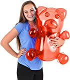 Block Buster Costumes Delicious Candy Large Red Gummy Bear Animal Inflatable 24'
