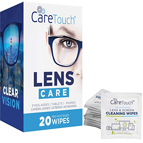 Pre-Moistened Screen Wipes Safely Clean Electronic,Phone,Eyeglasses,Laptop,Screen and Other Delicate Surfaces,Individually Wrapped Cleaner Kit-120 ct Peakally Lens Cleaning Wipes