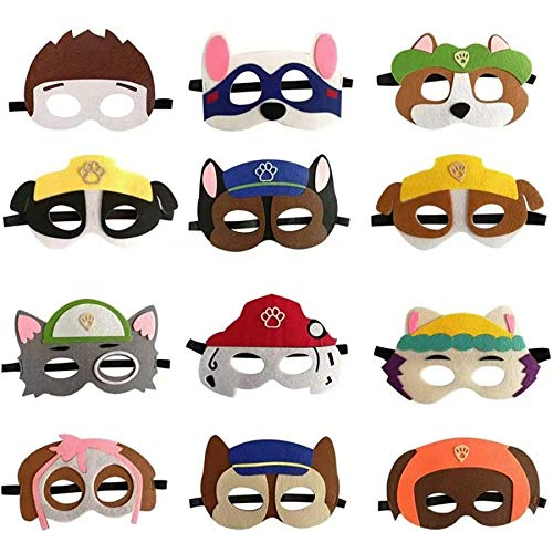 12PCS Paw Dogs Birthday Party Masks for paw Costume Party Decoration paw Dogs Patrol Party Supplies