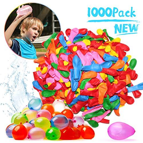 Zaloife 1000 Wasserbomben Wasserballons Schneller Wasserfüllballon Wasser-Bomben Schnellfüller, Bunt...