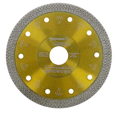 PRODIAMANT Profi Diamant-Trennscheibe für Fliese und Feinsteinzeug 125 mm x 22,23 mm DoubleDiamond Fliesenscheibe