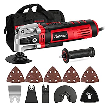 AVID POWER Oscillating Tool 3.5-Amp Oscillating Multi Tool with 4.5°Oscillation Angle 6 Variable Speeds and 13pcs Saw Accessories Auxiliary Handle and Carrying Bag