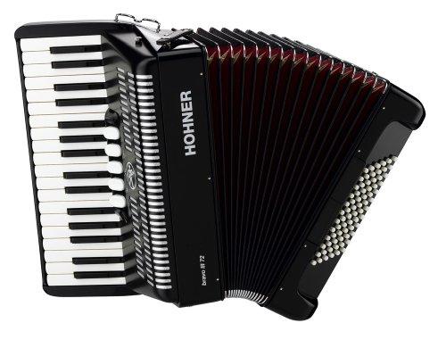 Hohner Bravo III Piano Accordion, 72 Bass, Black