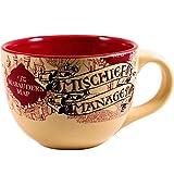 Silver Buffalo Harry Potter The Prisoner of Azkaban Mischief Managed Ceramic Soup Mug, 24-Ounces