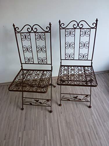 Ziegler 2er Set 2 Gartenstühle Klappstuhl Metallstuhl Stuhl Metall Eisen WK070827