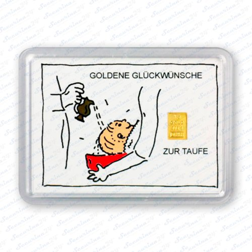 Goldbarren 1g 1 Gramm Motivbox