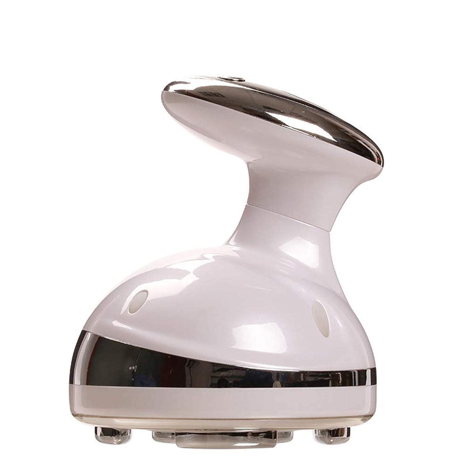 着実に懲戒腹GQSZ脂肪除去キャビテーション美容機HD LCDレッドライトRFセラピーボディシェーピング超音波マッサージ減量ボディスリミングスキン引き締め,White