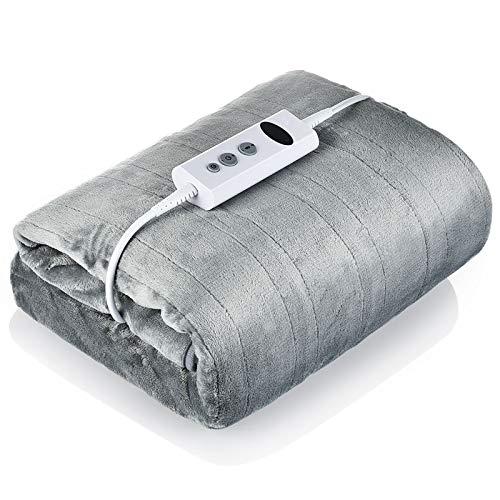 QINGZ Manta de calefacción eléctrica, temporada, de franela suave, se puede lavar...