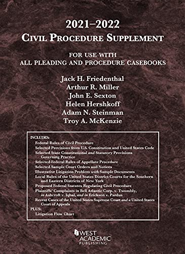 Civil Procedure Supplement, for Use with All Pleading and Procedure Casebooks, 2021-2022 (American C