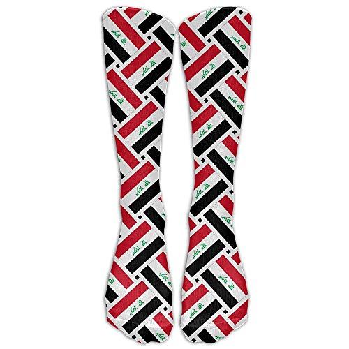 NA Sport/Sneaker Socken,Anzug-Socken,High Performance Tennissocken,Business Socken,Irak Flag Weave Moisture Control Laufsocken Langlebige Atmungsaktive Trainingssocken