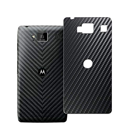 Vaxson 2 Unidades Protector de pantalla Posterior, compatible con Motorola Moto Droid RAZR HD xt926, Película Protectora Espalda Skin Cover - Fibra de Carbono Negro