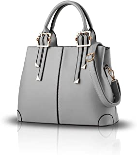 New Fashion Handbag Portable Shoulder Bag Casual Messenger Bag Money Bag for Ladies SB049 Grey