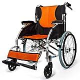 ZXCASD Rollstuhl Standardrollstuhl Schmal Klappbar Fußstützen Abnehmbar, Transportrollstuhl Armlehne Schwenkbar Größe 41 cm