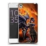 Head Case Designs Oficial Anne Stokes Entrenador Dragon Amistad 2 Carcasa de Gel de Silicona Compatible con Sony Xperia E5