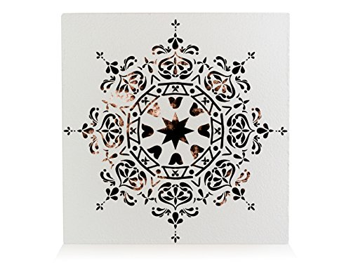 Interluxe houten block shabby mandala Ibiza stijl used look decoratie boho stijl cadeau