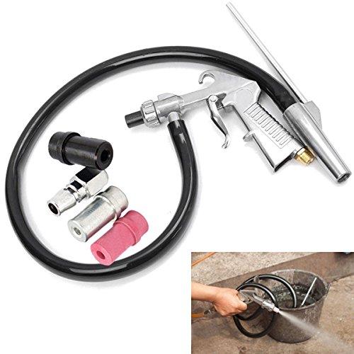 Summerwindy Dispositivo de chorro de arena de aire Pistola de chorro de arena + Boquillas + Conector + Kit de herramientas para derretir tubos