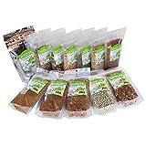 Beginners Dozen Organic Sprouting Seeds - 1 Lb Ea. of Alfalfa, Bean Salad, Lentil Fest, Red Clover, Garbanzo,...