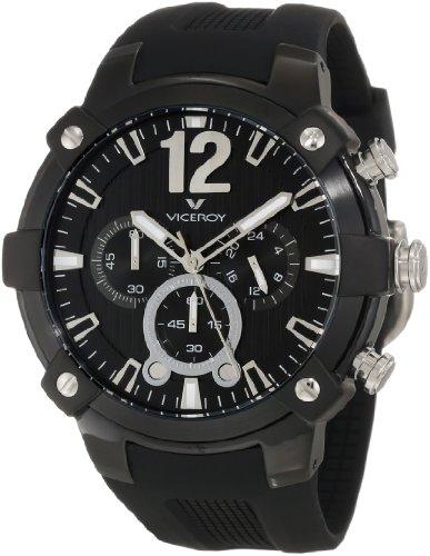 Viceroy 47633-55 - Reloj de Pulsera Hombre, Caucho, Color Negro