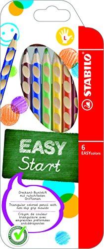 STABILO EASYcolors matite colorate ergonimiche per Mancini colori assortiti - Astuccio da 6