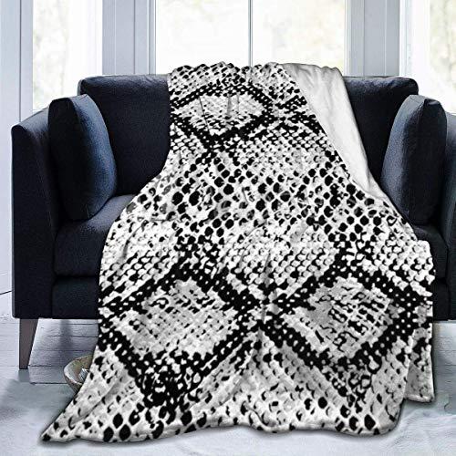 July flanellen fleece deken met zwarte opdruk van slangenleer ultra zachte pluche deken van fluweel