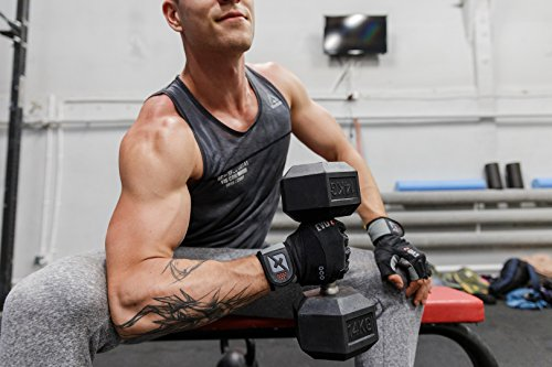 skott 2019 Evo 2 Weightlifting Gloves with Integrated Wrist Wrap Support-Double Stitching for Extra Durability-Get Ripped with The Best Body Building Fitness and Exercise Accessories (X-Large)