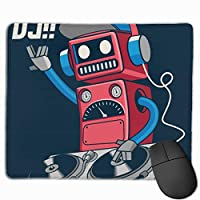 マウスパッド オフィス最適 ロボット 音楽 ミュージック ロック ゲーミング 防水性 耐久性 滑り止め 多機能 標準サイズ25cm×30cm