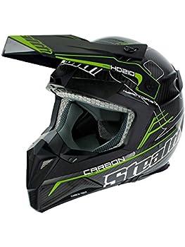 Stealth Flo Green 2016 HD210 Pro Carbon Kevlar MX Helmet