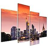 Wandbild - Frankfurt Skyline - Deutschland bei Nacht -