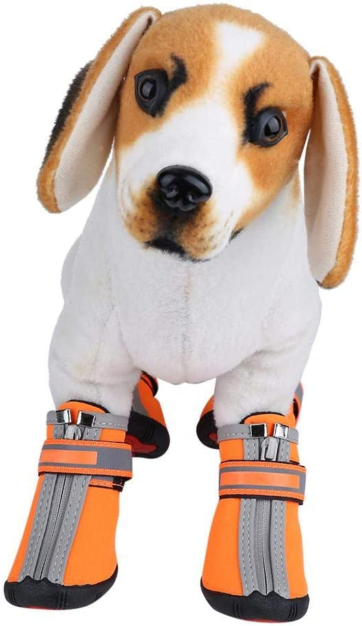 Fdit Haustierschuhe Winterhund Warme Schuhe rutschfeste Hundestiefel Haustierstiefel mit reflektierenden Tr/ägern Perfekt f/ür kleine mittelgro/ße gro/ße Hunde