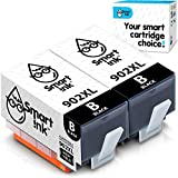 Smart Ink Compatible Ink Cartridge Replacement for HP 902 XL 902XL (Black, 2 Pack) Advanced Chip Technology to use with OfficeJet Pro 6968 6974 6975 6978 6960 OfficeJet 6951 6954 6956 6958 6962 6950