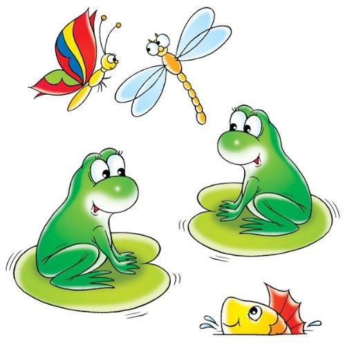 Apalis Wandtattoo No.14 Froschkonzert Tier Frosch Teich Libelle Comic Tier