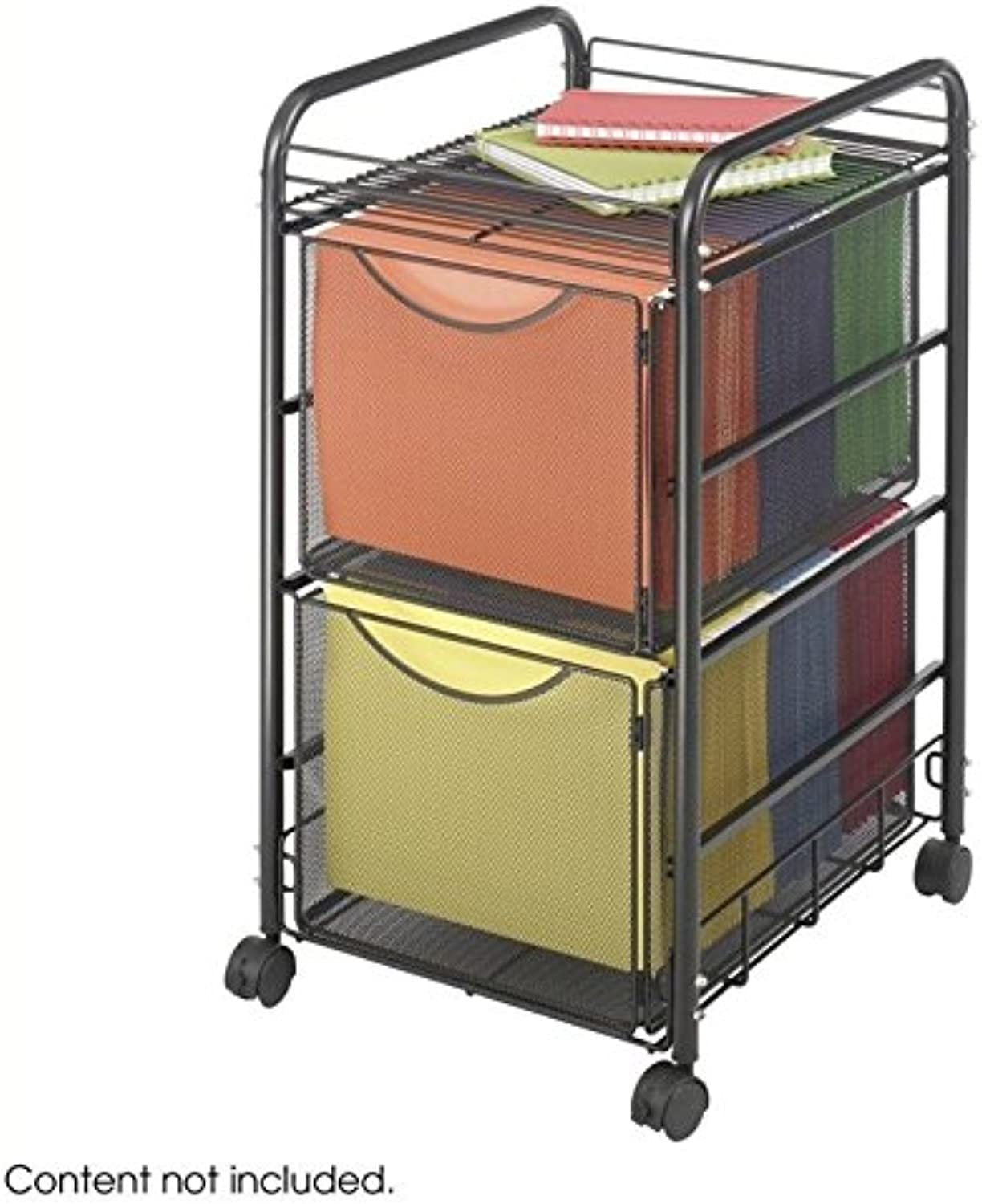Scranton & Co Mesh File Cart with 2 File Drawers
