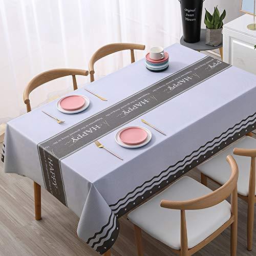 PhantasyIsland.com Mantel de Lino y algodón Resistente al Polvo con Borla para Cocina, Comedor, Granja, decoración de Mesa, 140 * 160cm