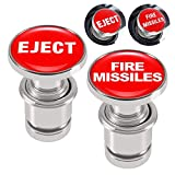ALAMSCN EJECT FIRE MISSILES Button Cigarette Lighter Replacement Cover 12V Power Source Fits Most Automotive Vehicles (PACK of 2)