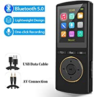 MUS RUN 2-in-1 16GB Bluetooth 5.0 MP3 Player (Black)