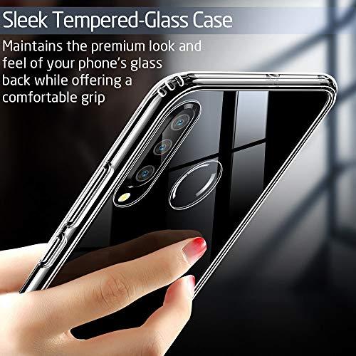 ESR Glashülle kompatibel mit Huawei P30 Lite - 9H Hartglas Handyhülle mit dualer Rückseite - Kratzfeste Schutzhülle mit weichem TPU Bumper für Huawei P30 Lite - Klar - 4