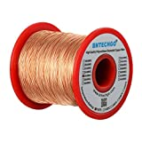 BNTECHGO 26 AWG Magnet Wire - Enameled Copper Wire - Enameled Magnet Winding Wire - 1.0 lb - 0.0157' Diameter 1 Spool Coil Natural Temperature Rating 155℃ Widely Used for Transformers Inductors