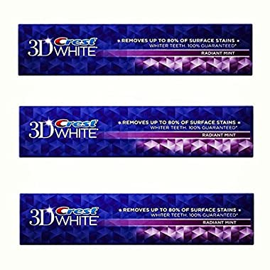 Crest 3D White Toothpaste Radiant Mint 4.8 oz ( 3 pack)
