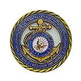 La Marina de los EE. UU. Honra el coraje de desafiar al timonel Eagle Fleet Anchor Medalla conmemorativa conmemorativa del capítulo de recolección de monedas conmemorativas del ancla de la flota