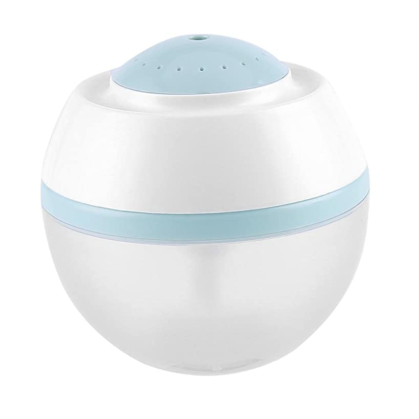 ポーン傀儡針超音波クールミスト加湿器、500ml空気清浄器気化器ディフューザー7色LED付きプレミアム加湿ユニット(青)