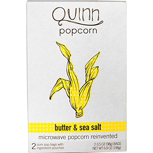 Purchase Quinn Popcorn, Butter & Sea Salt, 2 Bags, 3.5 oz(Pack of 4)