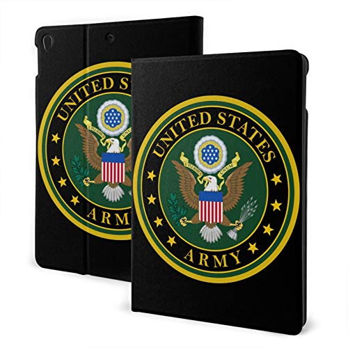 Fejarx United States Army The New Ipad Eighth Generation (2020)/Seventh Generation (2019)/ 10.2-Inch Shell-Corner Protection Multi-Angle Split Case