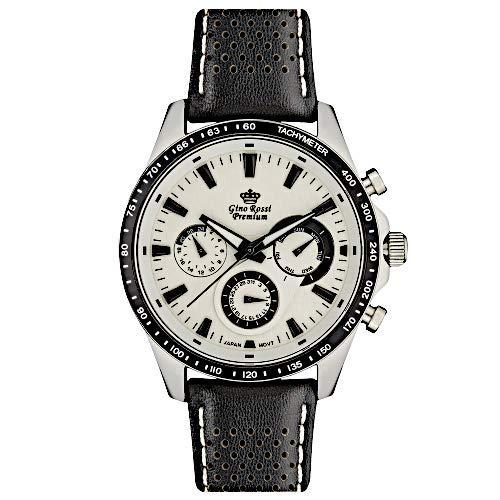 Gino Rossi WR50 - Reloj de Pulsera para Hombre, Piel Natural