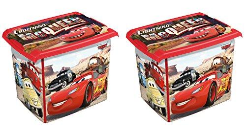 2 x boîte à jouets jouet Boîte Fashion Box Disney Cars 20 L