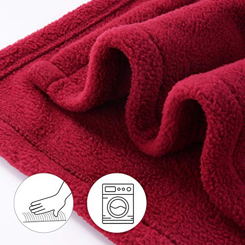 Electric Heated Blanket Polar Fleece Full Size 77'' x 84'' Extra-Warm Lightweight Cozy Luxury Bed Blanket Machine Washable with 4 Heating Levels Auto-Off Machine Washable - Red Wine