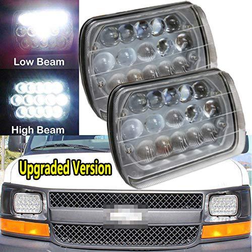 7X6 5X7'' LED Headlights For Chevy Express Cargo Van 1500 2500 3500 Van Replace H6014 H6052 H6054 H6054 H6012, Sealed Beam Rectangular Super Bright 6000k White Headlights High/Low Beam Conversion Kit