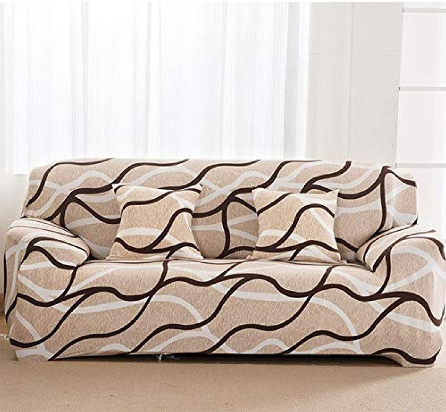 Farmerly 1pcs Deer Christmas Soft Stretch Sofa Cover Home Decor Spandex Furniture Covers Decoration Covering Hotel Slipcover 58121   T, Four seat