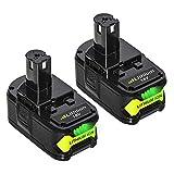 [2 Pack] Boetpcr RB18L50 5,5Ah 18V Batterie de Remplacement pour Ryobi One+ P108 RB18L40 RB18L25 RB18L15 RB18L13 P108 P107 P122 P104 P105 P102 P103 Outils compacts sans fil