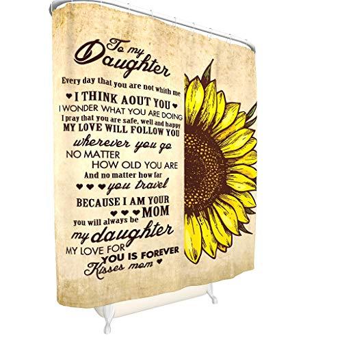 Charzee to My Daughter Sunflower patroon douchegordijn waterdicht stof douchegordijn badkuip gordijn voor badkuip